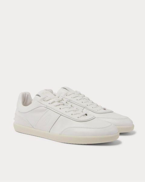 Logo-Debossed Leather  White low top sneakers