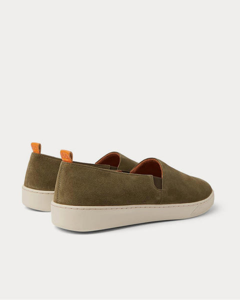 Suede Slip-On  Army green slip on sneakers