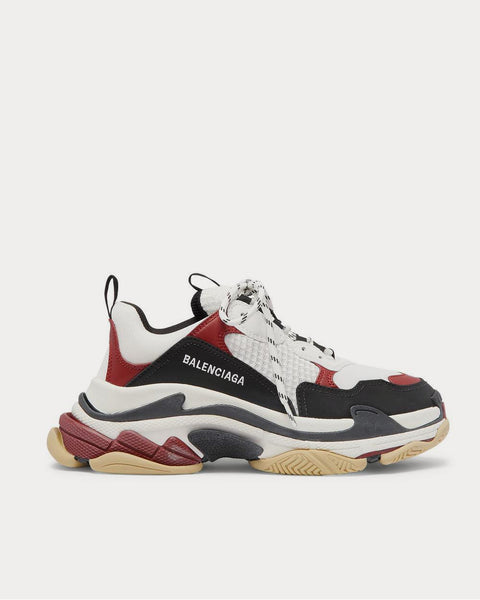 Triple S Mesh, Nubuck and Leather  Black low top sneakers