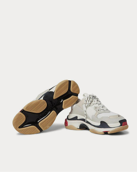 Triple S Mesh, Nubuck and Leather  White low top sneakers