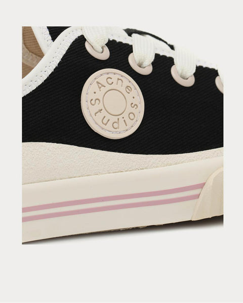 Canvas Black Low Top Sneakers