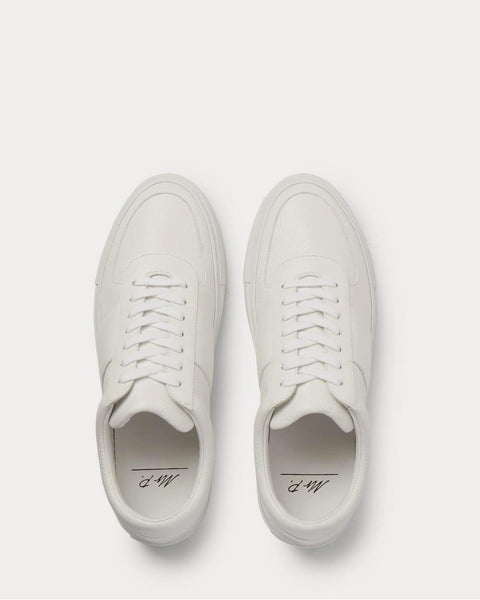 Larry Full-Grain Leather  White low top sneakers