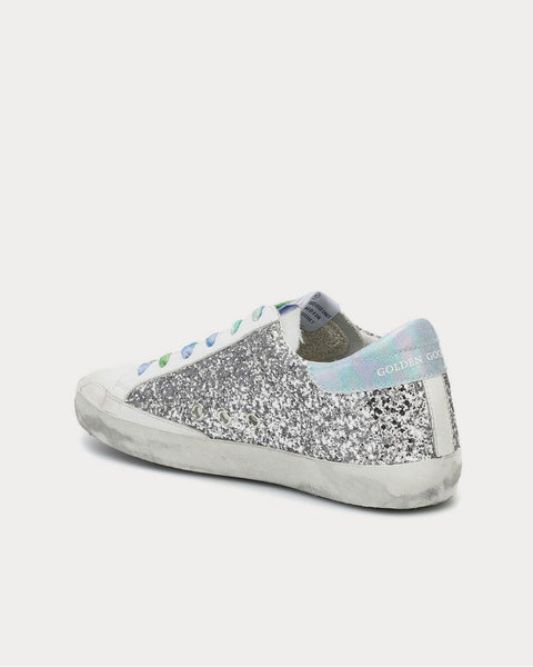 Superstar Silver Glitter Low Top Sneakers
