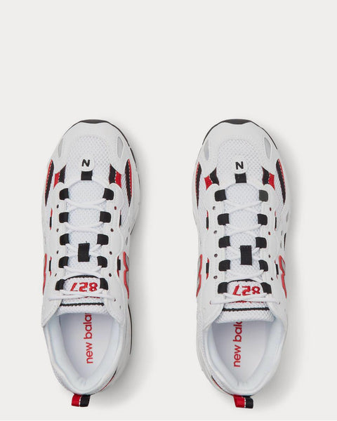 827 Webbing-Trimmed Faux Leather and Mesh  White low top sneakers