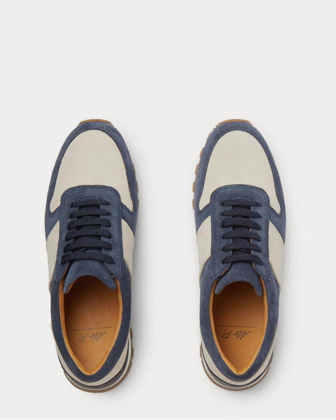 Suede  Blue low top sneakers