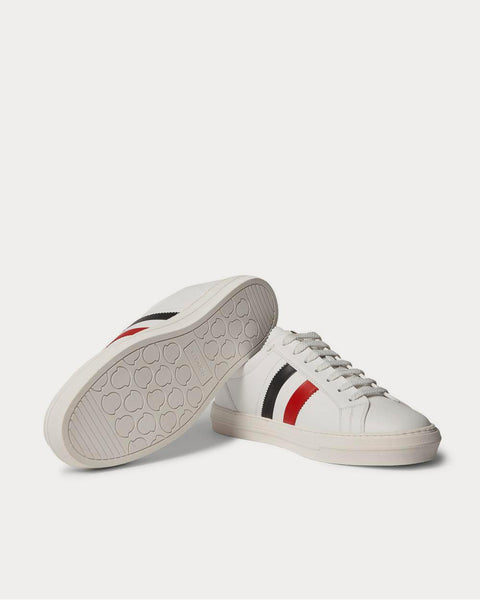 New Monaco Striped Leather  White low top sneakers