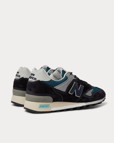 577 Suede, Rubber, Mesh and Leather  Blue low top sneakers
