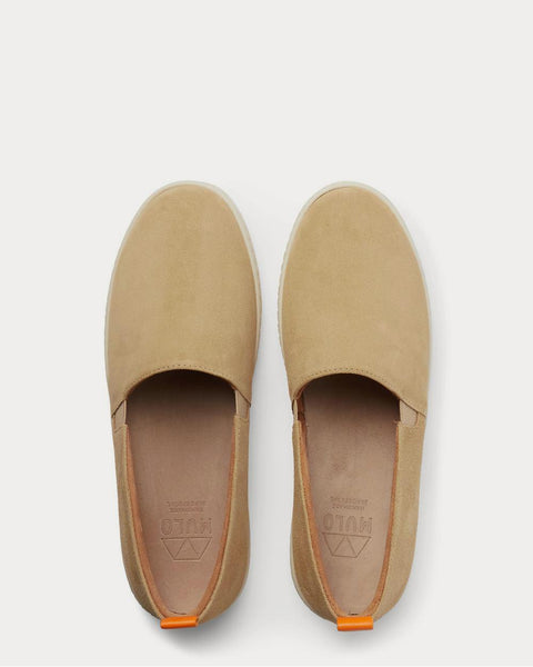 Suede Slip-On  Tan slip on sneakers