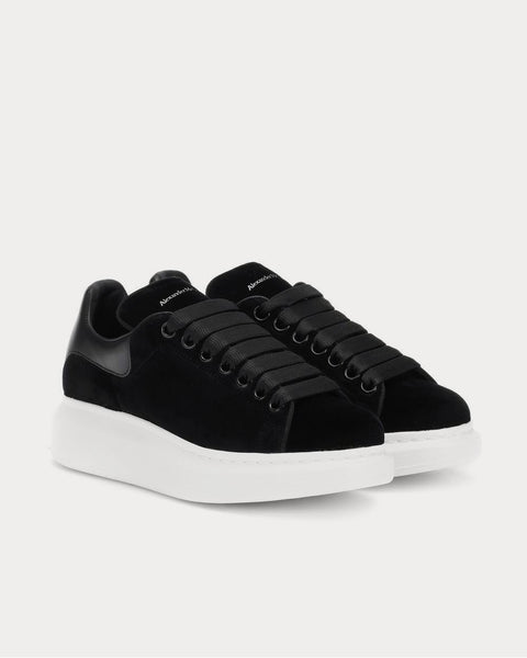 Velvet Black Low Top Sneakers