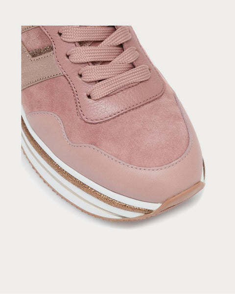 H222 Midi leather Pink Low Top Sneakers
