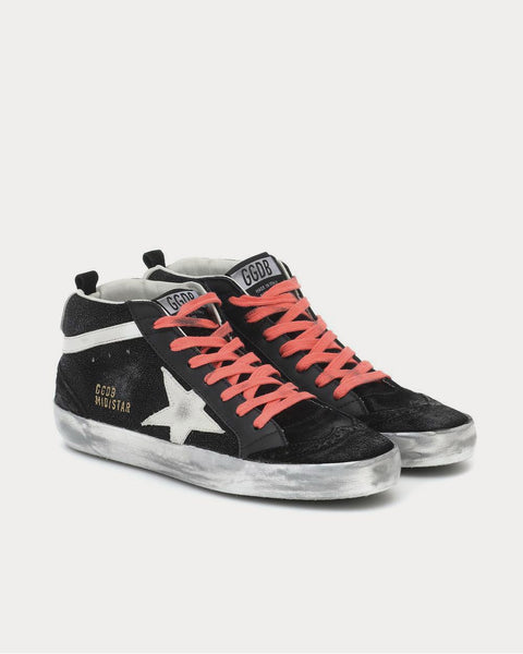 Mid Star Black High Top Sneakers