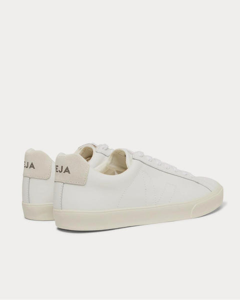 Esplar Suede-Trimmed Leather  White low top sneakers