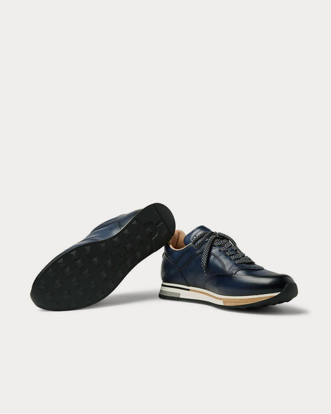 Duke Leather  Navy low top sneakers