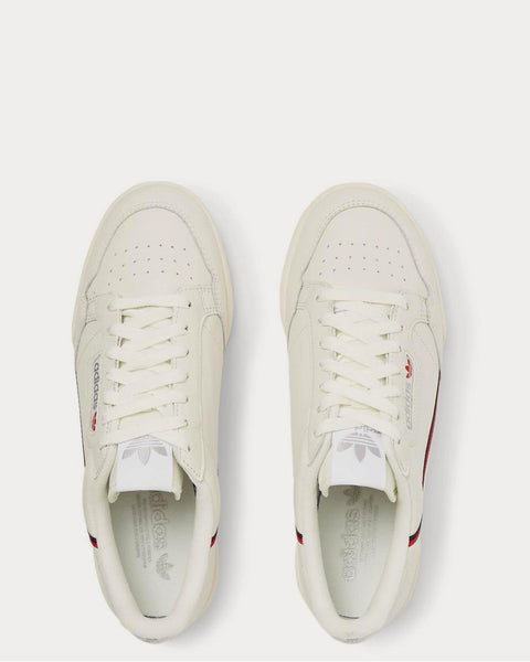 Continental 80 Grosgrain-Trimmed Leather  Off-white low top sneakers