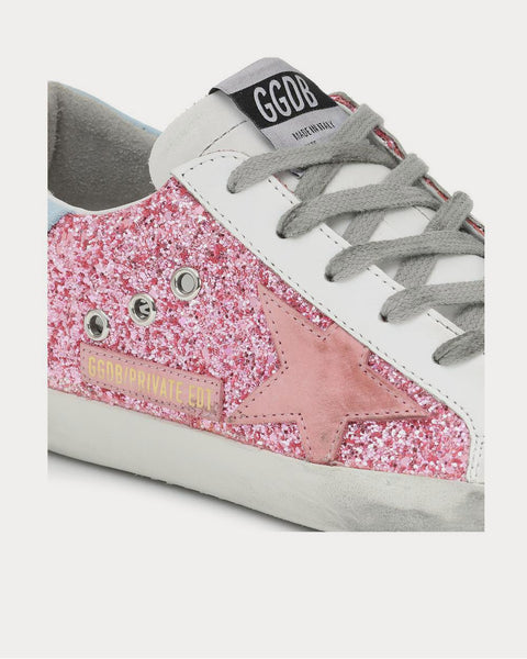 Superstar leather Pink Glitter Low Top Sneakers