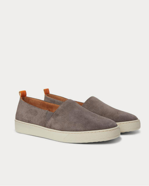 Suede Slip-On  Gray slip on sneakers