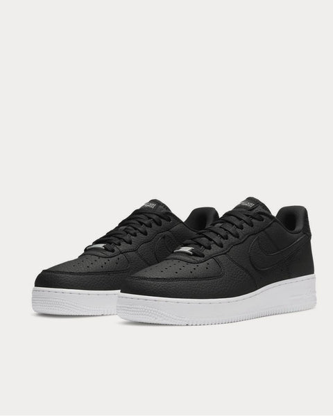 Air Force 1 07 Suede-Trimmed Leather  Black low top sneakers