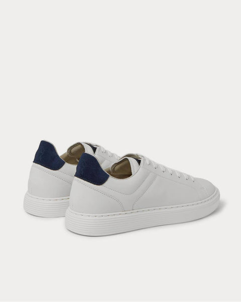 Suede-Trimmed Leather  White low top sneakers