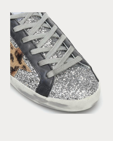 Superstar leather-trimmed Silver Low Top Sneakers
