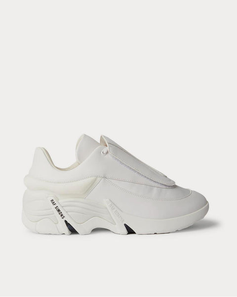 Antei Rubber-Trimmed Leather  White low top sneakers