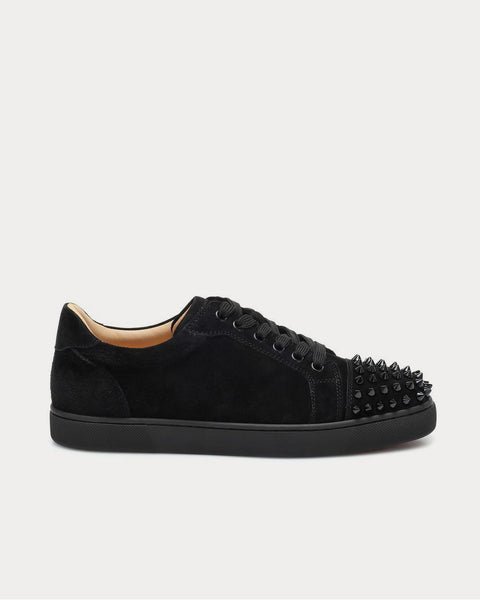 Vieira Spikes suede Black Low Top Sneakers