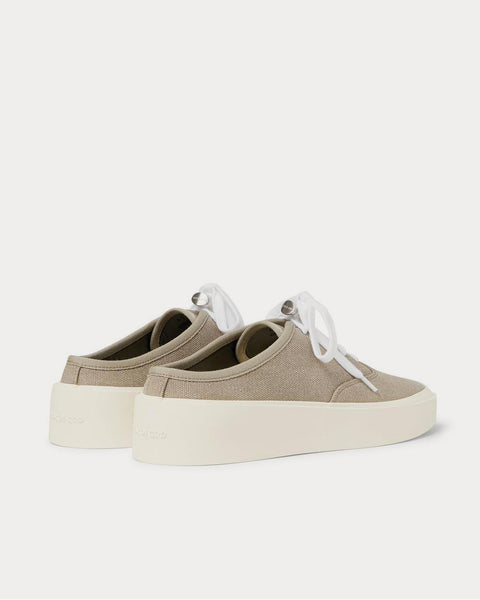 101 Canvas Backless  Taupe low top sneakers