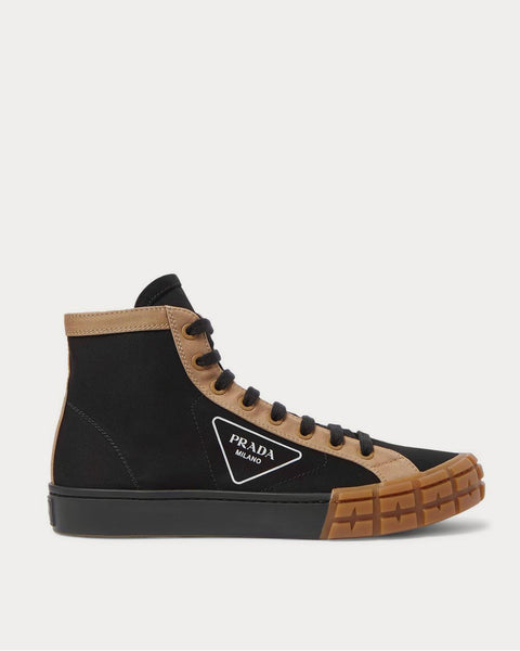 Logo-Print Canvas High-Top  Black high top sneakers