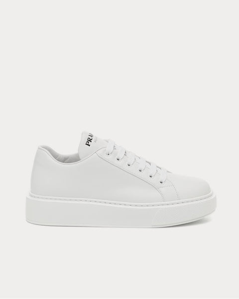 Leather Bianco Low Top Sneakers