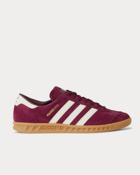 Hamburg Leather-Trimmed Suede  Burgundy low top sneakers