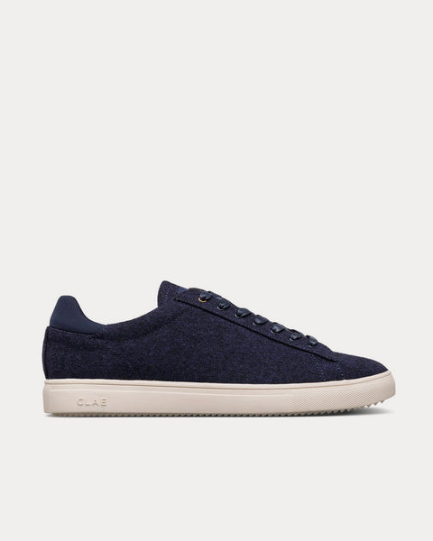Bradley Textile Navy Low Top Sneakers