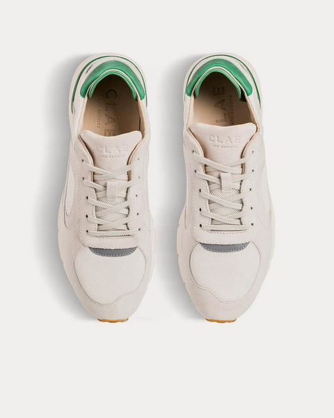 Edwin White Smoke Suede Sneakers
