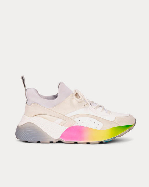 Eclypse White & Rainbow Low Top Sneakers