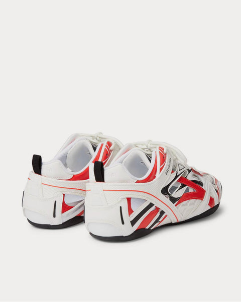 Drive Mesh and Rubber  White low top sneakers