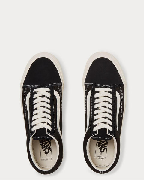OG Old Skool LX Leather-Trimmed Canvas and Suede  Black low top sneakers