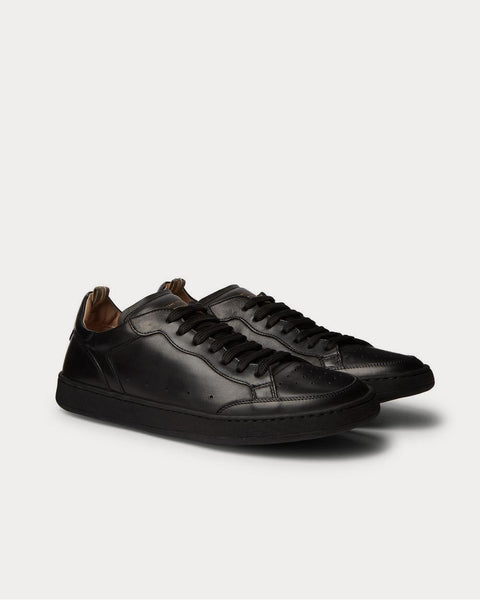 Kareem Lux Leather  Black low top sneakers