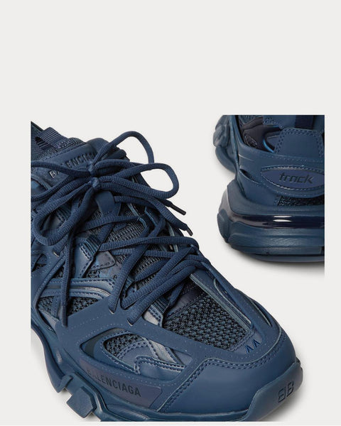 Track Nylon, Mesh and Rubber  Navy low top sneakers