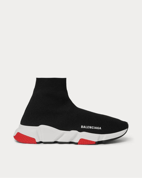 Speed Sock Stretch-Knit Slip-On  Black high top sneakers