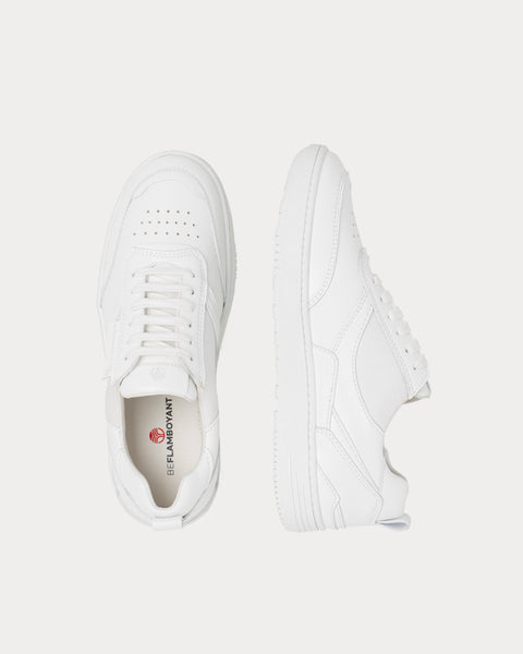 UX-68 White Low Top Sneakers