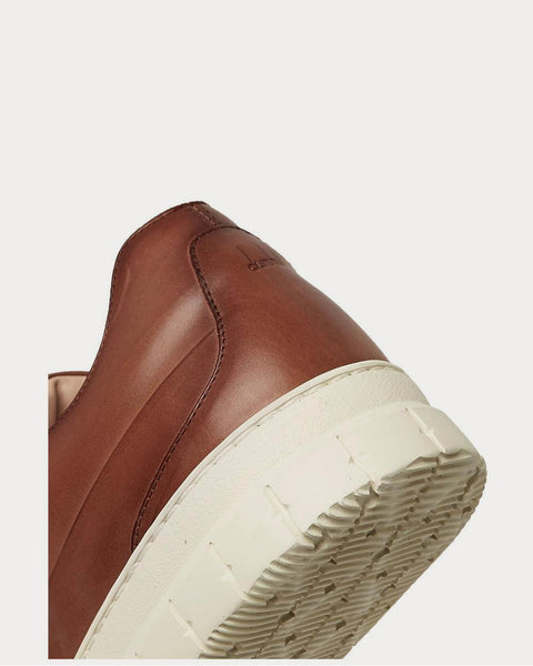 Duke Leather  Tan low top sneakers