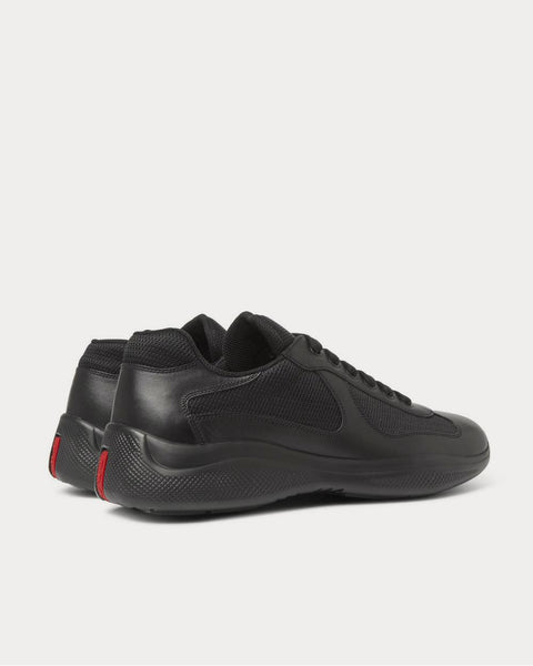 America's Cup Leather and Mesh  Black low top sneakers