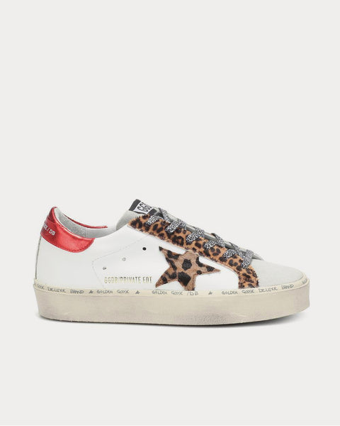 Hi-Star leather white leopard Low Top Sneakers
