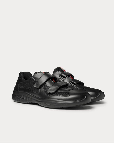 Americas Cup Leather and Mesh  Black low top sneakers