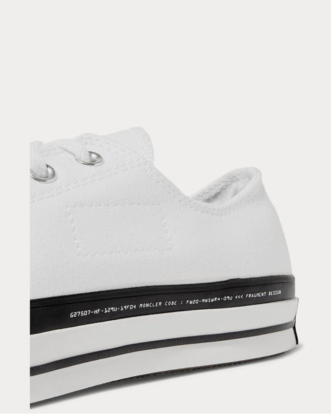 7 Moncler Fragment + Converse Chuck 70 Ox Canvas  White low top sneakers