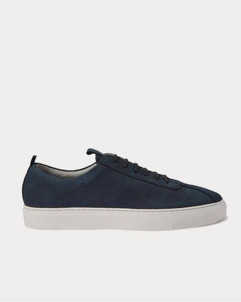 Nubuck  Navy low top sneakers