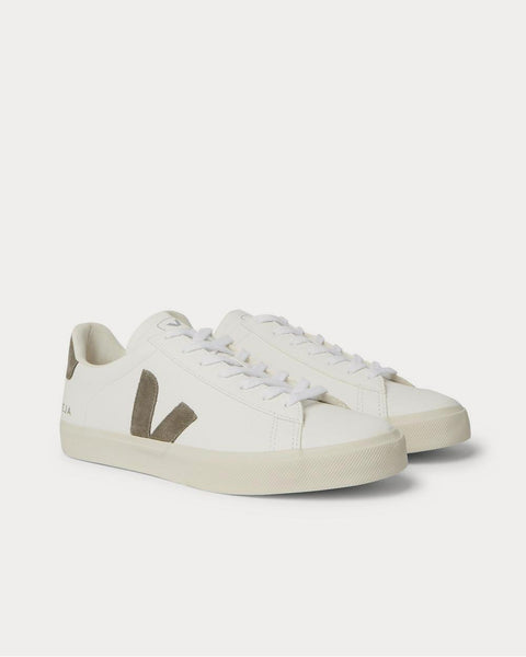Campo Suede-Trimmed Leather  White low top sneakers