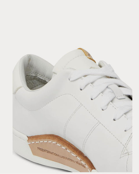 Foley Folk Leather  White low top sneakers