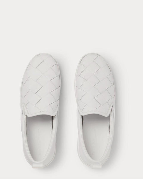 Dodger Intrecciato Leather White slip on sneakers