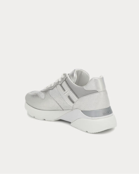 Active One leather Silver Low Top Sneakers