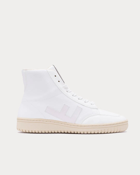 Old 80's All White Monocolor High Top Sneakers