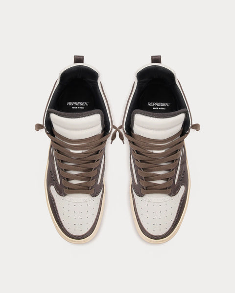 REPTOR Brown & White High Top Sneakers